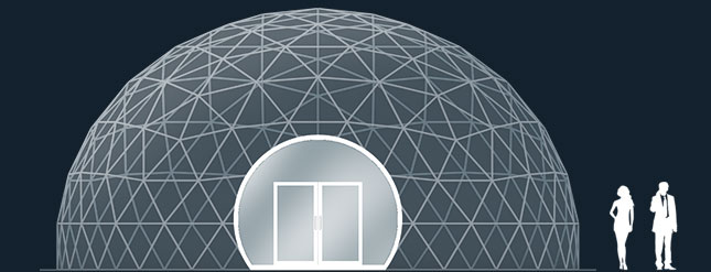 Модель GeoTenso GeoDome 78м2
