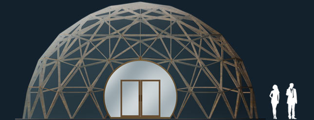 Модель GeoTenso EcoDome 113м2