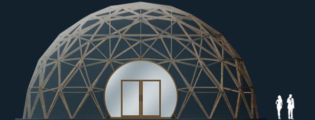 Модель GeoTenso EcoDome 314м2