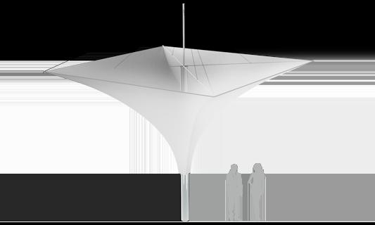 Модель Membrane Umbrella 49м2