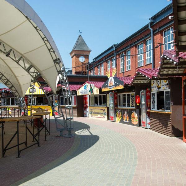Тентовые конструкции для террас ресторанов